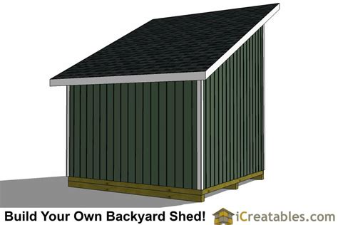 12x12 Lean To Shed Plans | 12x12 Storage Shed Plans