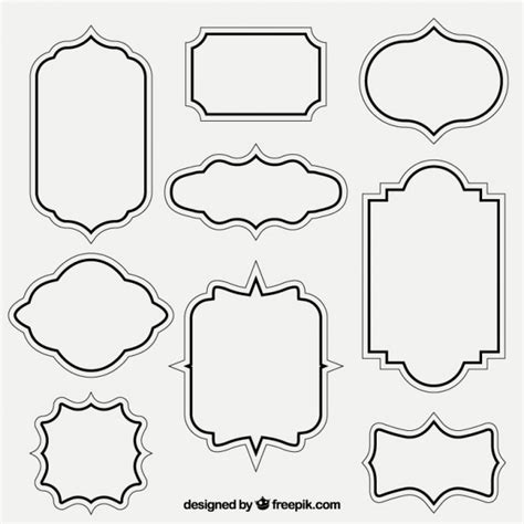 But the general sense is that at loonapix you may choose a photo frame for any occassions and tastes and. Retro outlined frames | Free Vector