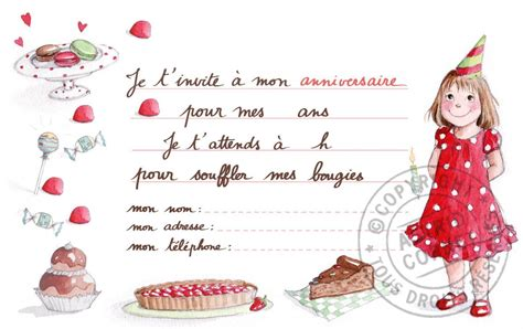 Carte Invitation Anniversaire Fille Carte Invitation Anniversaire Fille Carte D Invitation Anniversaire Fille Carte Anniversaire