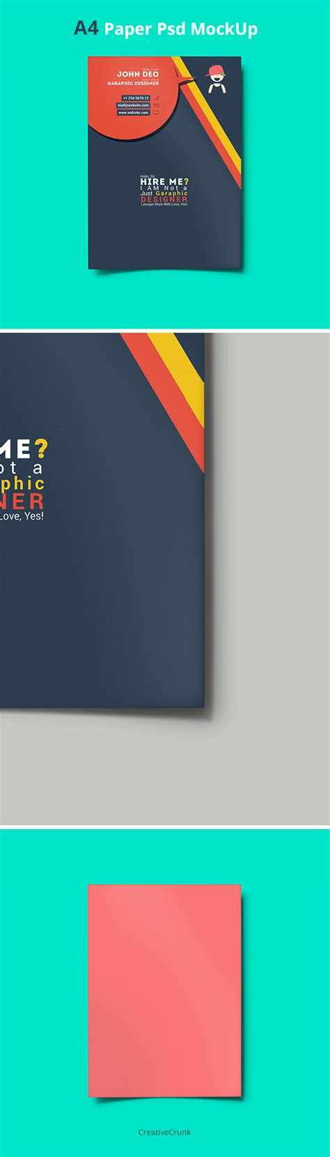 16 A4 PSD Mockup Templates Images Flyer Mock Up Template
