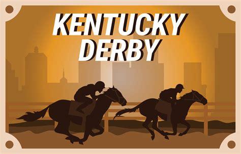 kentucky derby postcard clip art   vectors