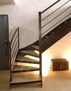 Escalier 1 4 Tournant Droit : photo dt24 esca 39 droit 1 4 tournant bas escalier int rieur design m tal et b ton pour une ~ Dallasstarsshop.com Idées de Décoration