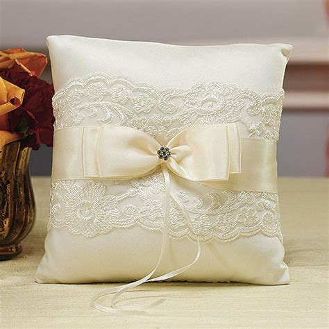 beverly clark lace collection ring pillow weddingstar