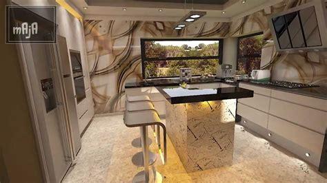 design wohnzimmer kombiniert mit kueche youtube