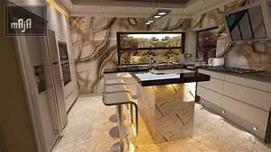 Design Wohnzimmer Kombiniert Mit Kche YouTube