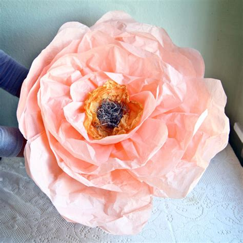 large paper flower diy project paper flowers from ruche design sponge