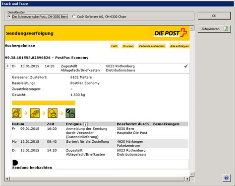 Codx Software Ag > Codx Postoffice > Poststellenmanagement