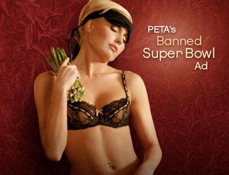 banned bowl ad takes peta from controversial to pornographic about