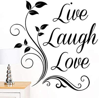 I love it & hung it on my wall as soon as i opened it. Rubybloom Designs Live Laugh Love Quote Words Scroll Art Wall Sticker: Amazon.co.uk: Kitchen ...