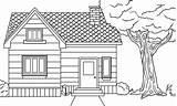 Coloring Printable Prairie Houses Colouring Drawing Buildings Kid Templates sketch template