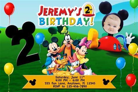 mickey mouse clubhouse invitations template free mickey mouse clubhouse birthday invitations to make free invitation templates
