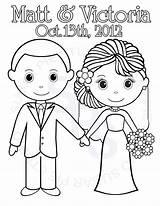 Groom Wedding Bride Printable Personalized Coloring Pages Party Activity Visit Pdf Diy Favor Reception Table sketch template