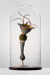 Otherworldly mixed media plants sprout like creatures from for Marriage plant sculptures miun
