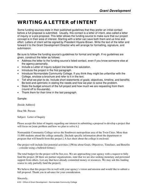 writing  grant proposal template