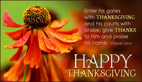 psalm 100 4 thanksgiving holidays ecard free christian ecards greeting cards