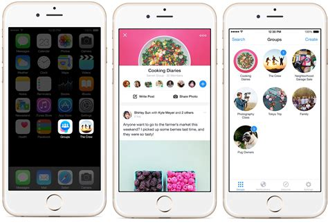 groups app mobile iphone screenshot ios member software management version admin icon notifications send members goes features collates place idownloadblog