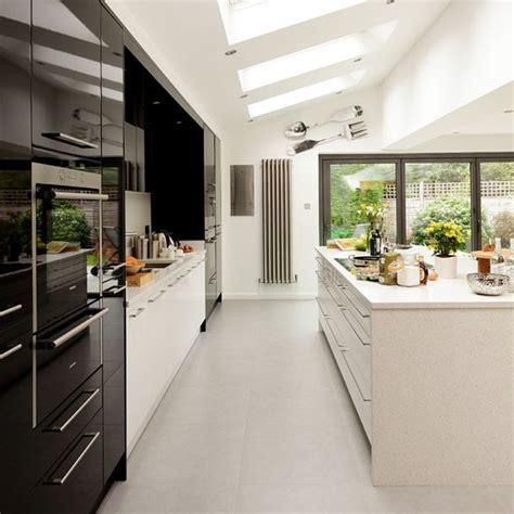 white kitchen ideas uk glossy black and white kitchen modern kitchen ideas