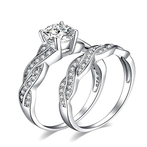 rings anniversary promise wedding band engagement ring bridal sets love ring a for sale in