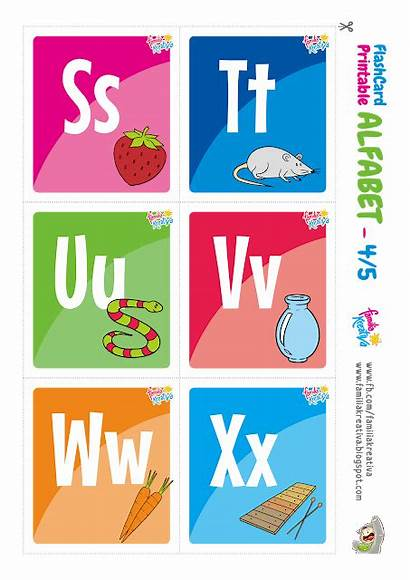 Indonesia Alfabet Printable Alphabet Flashcard Gratis Familiakreativa