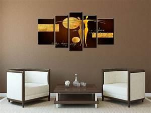 Tableau Salon Moderne : tableau contemporain abstrait d co moderne salon ~ Farleysfitness.com Idées de Décoration