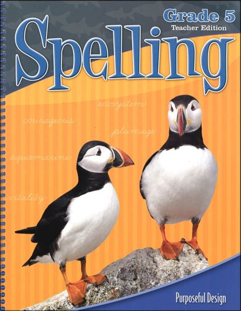 Acsi Spelling 5 Teacher Edition (revised Edition) (000579) Details  Rainbow Resource Center, Inc