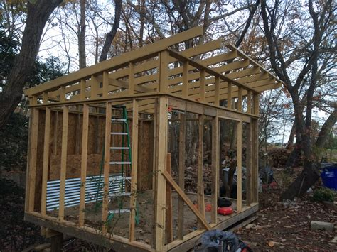 shed building diy modern shed build on a slope adam jacono archive