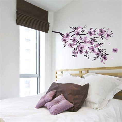 stickers muraux pour chambre adulte sticker fleurs aquarelle 50 cm x 70 cm leroy merlin