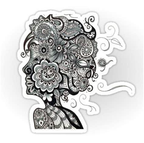 zentangle hair woman doodle doodles zentangles