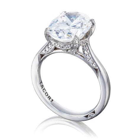 tacori ht2625ov11x9 18 karat royalt engagement ring tq