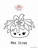 Num Noms Coloring Icing Mrs Cake Printable Nun Kolorowanka Kolorowanki Druku Unique Rysunek Wyświetleń Kolorki Template sketch template