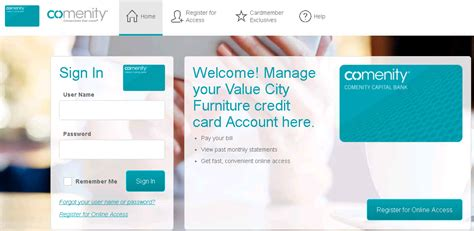 Check spelling or type a new query. Comenity.Net/VCF   Value City Furniture Credit Card Payment