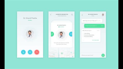how to design android app android app design contact doctor android app