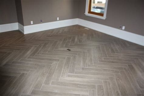 herringbone tile floor kitchen contemporary with accent herringbone quot yes its tile quot hardwood modern family room