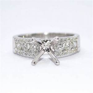 Mountings for diamond rings wedding promise diamond for Wedding ring mounts