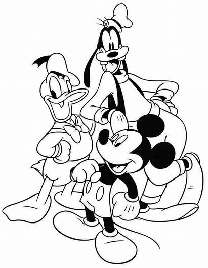 Mickey Mouse Coloring Pages Clubhouse Printable Goofy