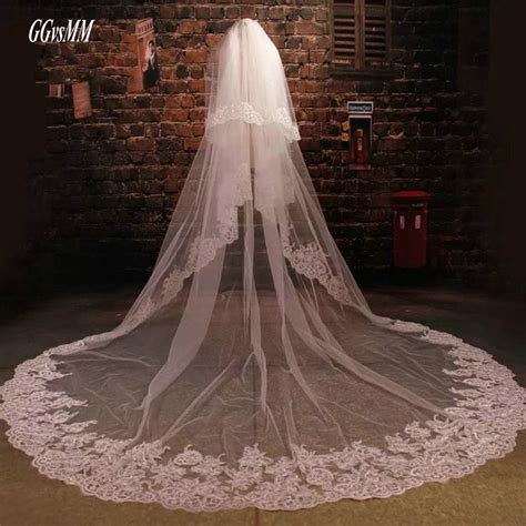 Cathedral Ivory Wedding Veil 3 Meter Bridal Vail Tulle