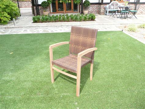 cannes  seater teak rattan patio set humber imports