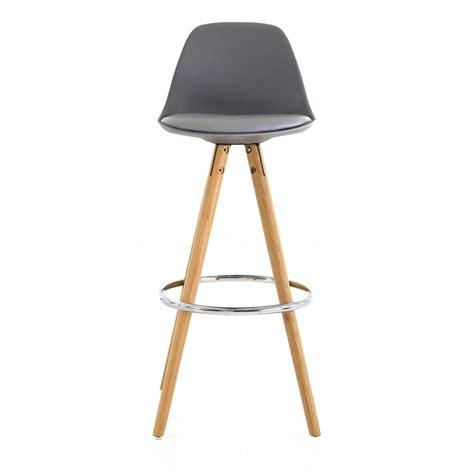 chaises hautes de bar chaise haute de bar grise trépied en bois style scandinave