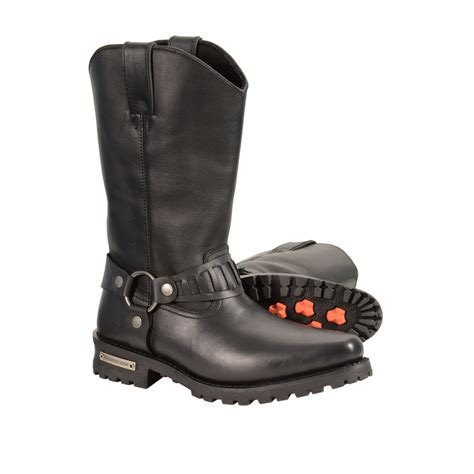 motorcycle gear boots men s real leather j toe cowboy motorcycle harness boots