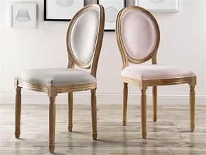 Chaise Louis Xvi : lot de chaises louis xvi velours coloris gris ou rose ~ Teatrodelosmanantiales.com Idées de Décoration
