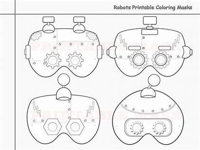 Mask Printable Masks Coloring Colouring Robots Transformers