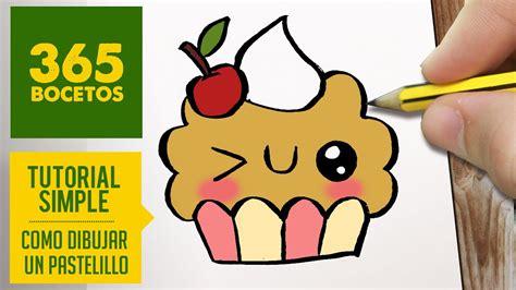 como dibujar un cupcake kawaii paso a paso dibujos kawaii faciles how to draw a cupcake