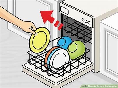 Dishwasher Drain Lavastoviglie Wikihow Acqua Kitchen Dishes