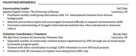 volunteering the boost your resume needs ku career