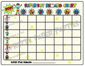 Super Hero Reward Chart Instant Download Etsy Reward
