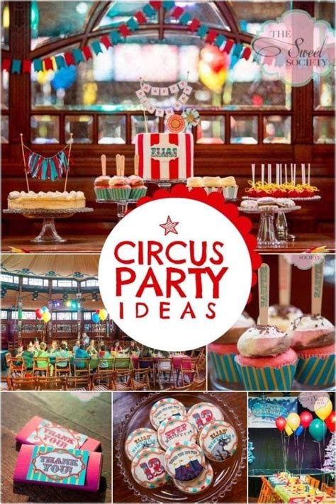 Vintage Circusthemed Boy S Birthday Party Spaceships