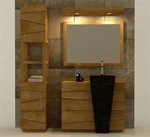 Achat vente meuble de salle de bain rhodes walk meuble for Porte d entrée alu avec meuble salle de bain teck 100 cm