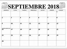 CALENDARIO SEPTIEMBRE 2018 2019 EL CALENDARIO