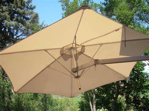 luxury umbrellas paraflex wallflex 9 foot push lift tilt