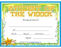 student of the week award certificates a template of With student of the week certificate template free